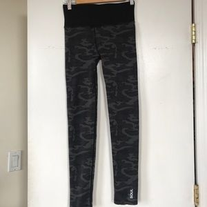 SOULCYCLE grey camo leggings